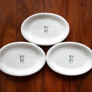 3x Rae Dunn Icon Collection Snack Plates